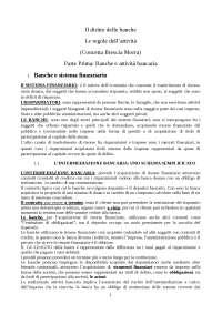 """riassunto """"il diritto delle banche"""" Brescia Morra"""