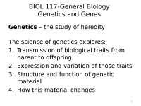 Genetics mutations