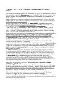 tecniche speciali di rilevazione, trattamento e analisi