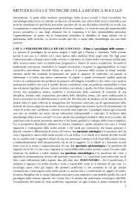 Sintesi Metodologia della Ricerca Sociale - Piergiorgio Corbetta