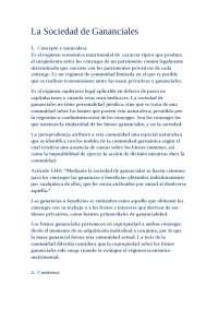 Derecho de Familia. Resumen Sociedad de Gananciales Bercowitz. UAM