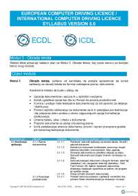 Ecdl icdl syllabus version 5.0 srpski modul 3