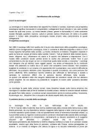 Capitolo 1 introduzione alla sociologia