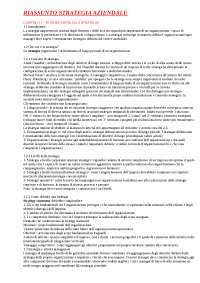 Riassunti strategia d'impresa - Libro Strategia Aziendale PEARSON - UNIFI
