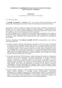 Gloria Pirzio Ammassari - Lobbying e rappresentanza della società civile nell'Unione europea