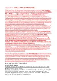 Traduzione Schauer - Thinking Like a Lawyer
