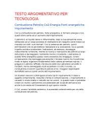 Testo argomentativo tecnologia