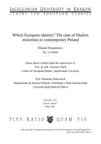 Which European identity? The case of Muslim minorities in contemporary Poland