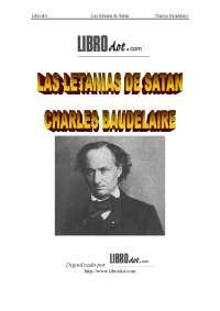 Charles baudelaire las letanías de satán