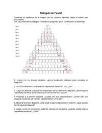 Triángulo de pascal (2)