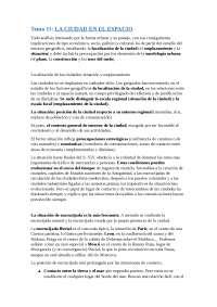 (USC) Geografia Humana -> Tema 11 LA CIUDAD EN EL ESPACIO