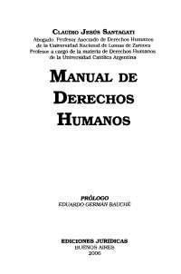 Manual de derechos humanos, claudio santagati