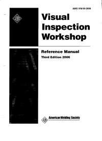 Visual inspection workshop
