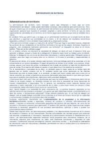 Apuntes sobre la administración de territorios