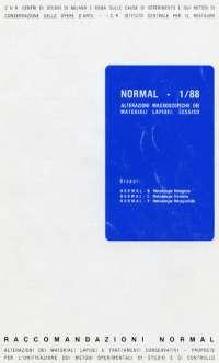 Restauro - Degrado dei materiali lapidei UNI Normal 1.88