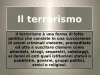 Il terrorismo, Appunti di Storia