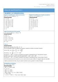 Definizioni e Dimostrazioni di Analisi Matematica I