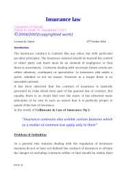 Insurance law[1]