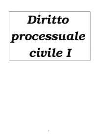 Procedura civile I - Riassunti Luiso (volumi I e II)
