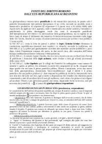 Fonti del diritto romano - storia del diritto romano