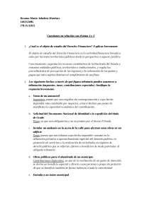 Derecho Fiscal. Trabajo temas 1 y 2 UGR GADE