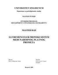 Mr savremeni elektronski sistem međunarodnog platnog prometa