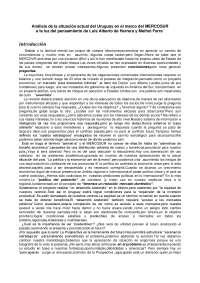 Apuntes sobre Uruguay y el MERCOSUR