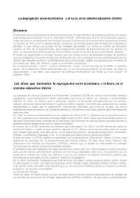 Apuntes sobre el sistema educativo chileno