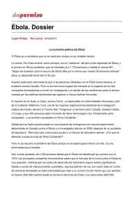 Ébola. Dossier (Sociologia)