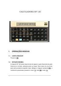 Manual de utilizacao calculadora financeira hp 12c