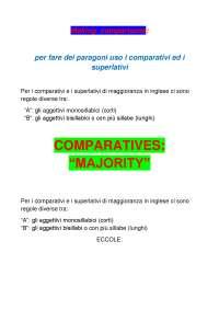 Comparatives majority minority equality