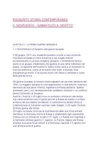 Storia Contemporanea - IL NOVECENTO -  Sabbatucci &  Vidotto