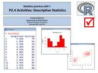 Descriptive Statistics: Activities