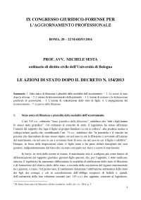 Michele sesta azioni di stato dopo il dr.lgsl n153 del 2013