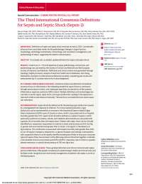 3er consenso internacional de sepsis y shock septico