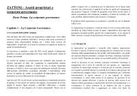 Riassunto zattoni assetti proprietari e corporate governance
