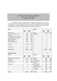 Compito analisi bilancio
