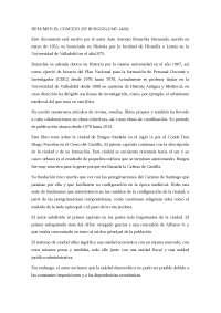 El Concejo de Burgos, resumen.
