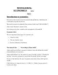 Managerial economics notes unit 1