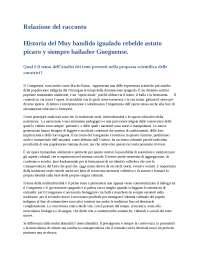 Relazione del testo  Historia del Muy bandido igualado rebelde astuto picaro y siempre bailador Gueguense.