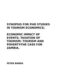 Synopsis for phd studies in tourism economics 2