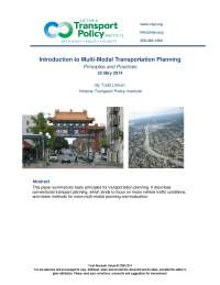 Multimodal planning by victoria department of transport