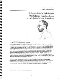 A cultura material de Palmares
