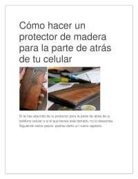 Como hacer un protector de madera