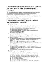 Lista de impostos no brasil