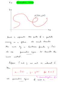 Lecture on parametric cure