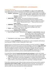 """Riassunto """"Elementi di sociologia (Temi e idee per il XXI secolo) - Carlo Mongardini"""""""