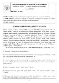 Examen PAU italiano Madrid 2008