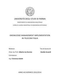 Knowledge management implementation in Telecom Italia