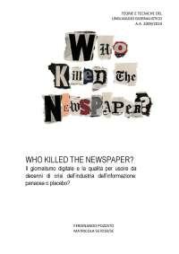 Who killed the Newspaper